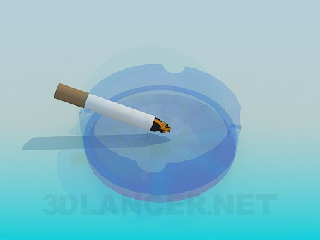 3d model Ashtray with cigarette - preview