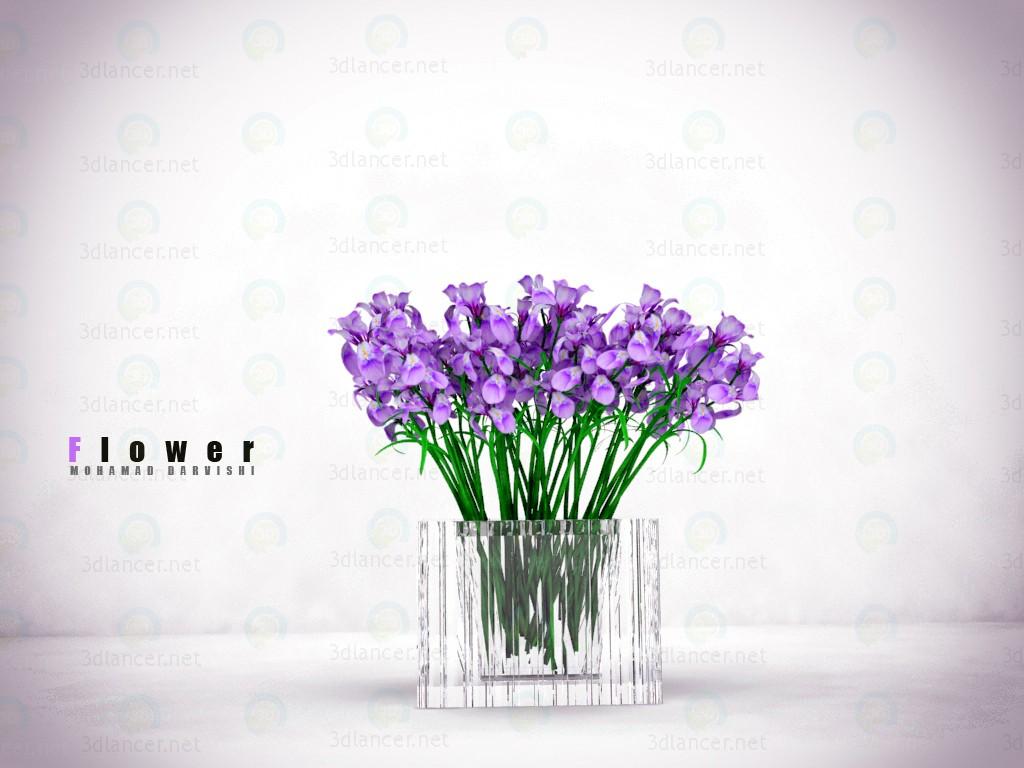 3d модель Квітка – превью