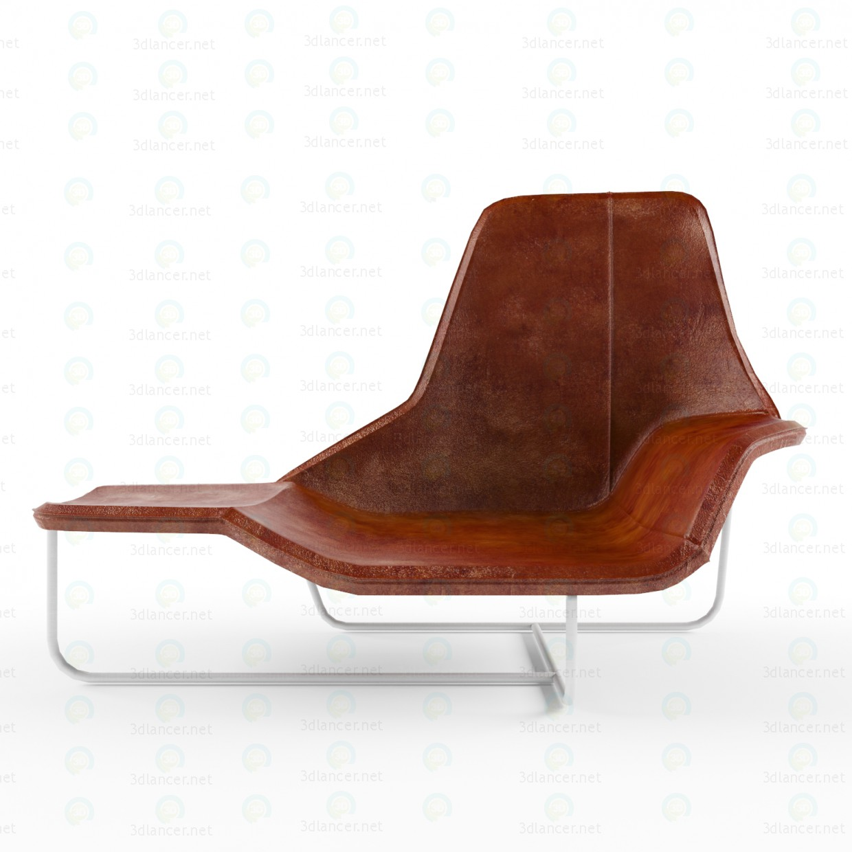 3d model chaise longue lama in the style of minimalism id for Chaise longue chilienne