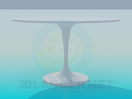 3d модель Круглый стол на одной ножке – превью