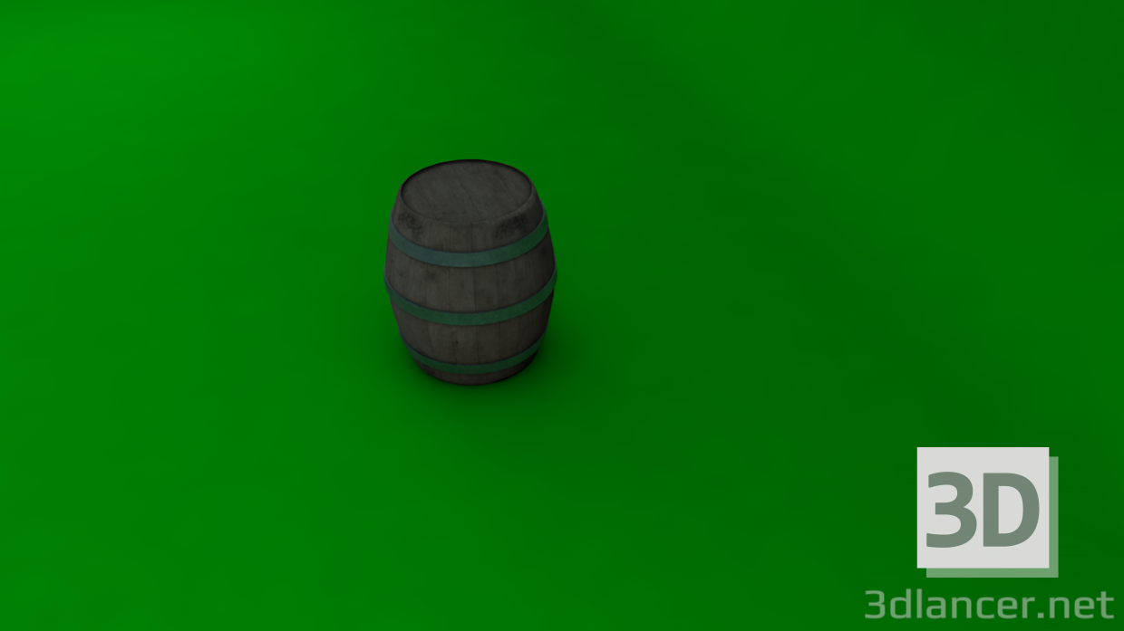 3d Barrel model buy - render