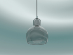 Pendant lamp Mega Bulb (SR2, Ø18cm, 23cm, Silver glass with black cord)