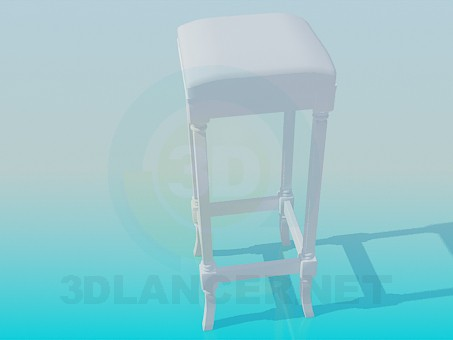 3d model High padded stool - preview