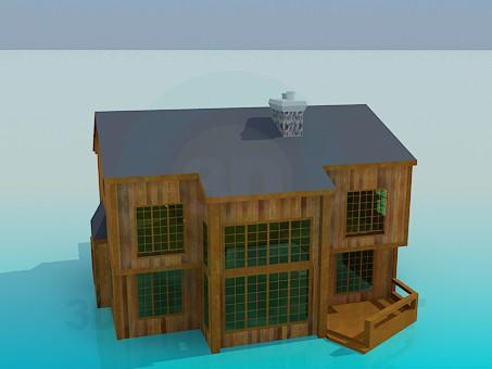 3d модель Дерев'яний будиночок – превью