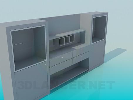 3d модель Симметричный гарнитур – превью