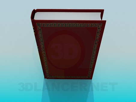 3d model The thick book - preview