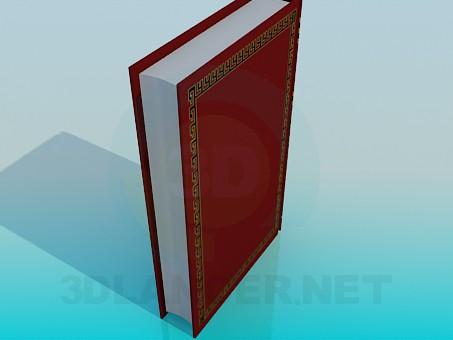 3d модель Толстая книга – превью