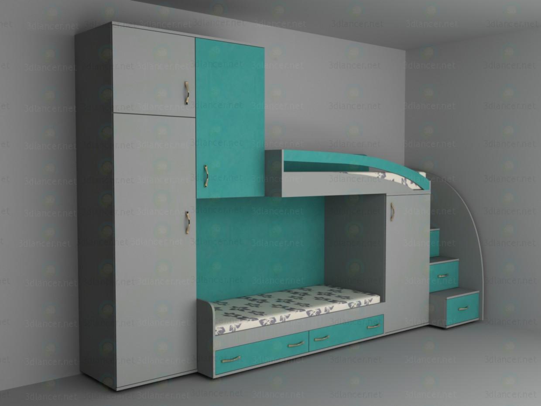 Muebles en un vivero 3D modelo Compro - render