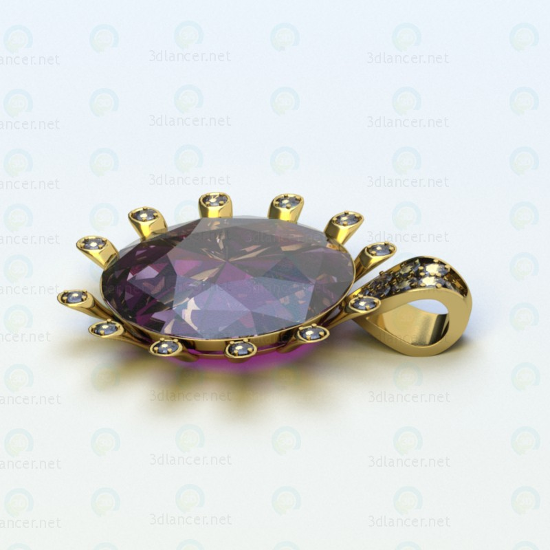 Jewelry pendant paid 3d model by psyromati preview