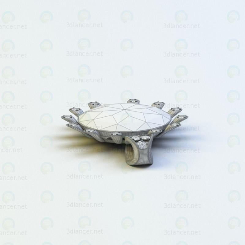 3d Ювелирный кулон модель купить - ракурс