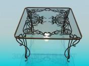 Tisch aus Glas