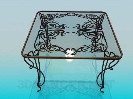 3d modeling Glass table model free download