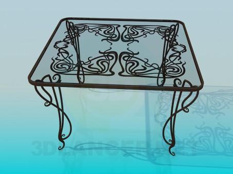 3d модель Стол стеклянный – превью