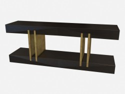 Rectangular console from wood Art Deco Norma Z01