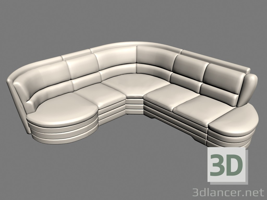 3d model Sofa corner Titan - preview
