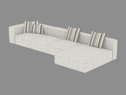Canapé d'angle modulaire