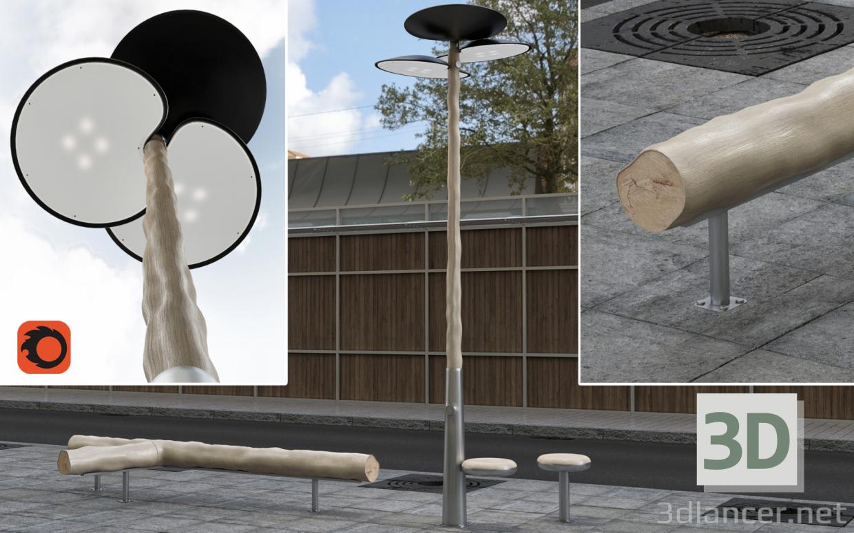3 डी सीट और लाइट डिजाइन मथिउ लेहनेउर मॉडल खरीद - रेंडर