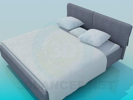 3d моделирование Кровать двуспальная модель скачать бесплатно