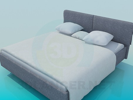 3d model Doublebed - preview
