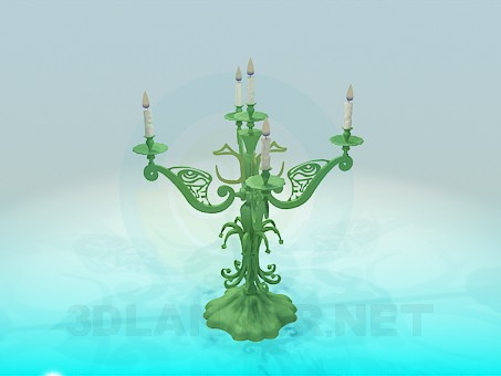 3d modeling Candlestick for 5 candles model free download