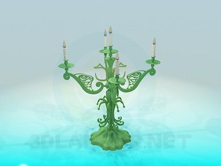3d модель Підсвічник на 5 свічок – превью