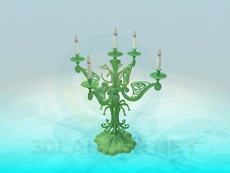 3d модель Подсвечник на 5 свечей – превью