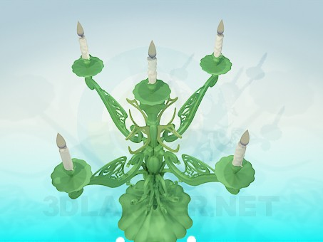 3d model Candlestick for 5 candles - preview