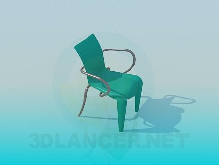 3d modeling Metal-plastic chair model free download