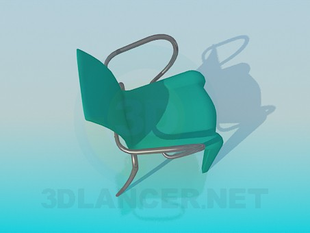 3d model Metal-plastic chair - preview