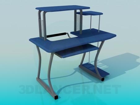 3d моделирование Стол компьютерный модель скачать бесплатно