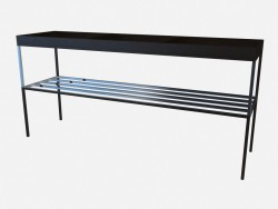 Console de mesa em metal base Norma Z02