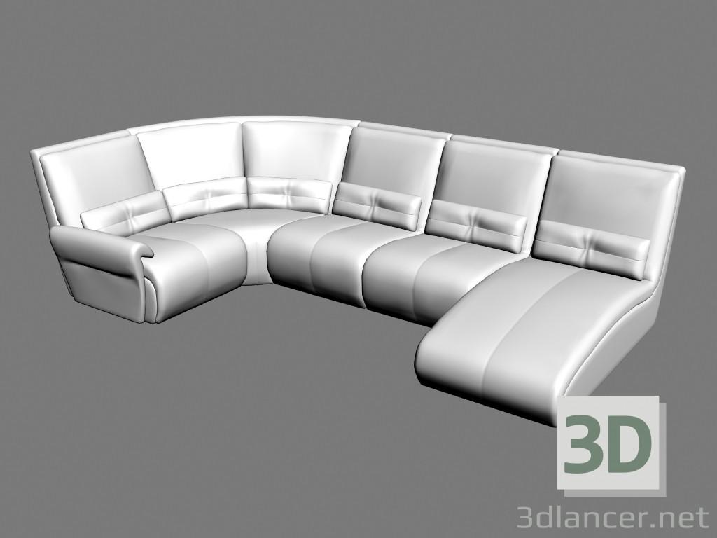 3d model Sofa corner Ustin - preview