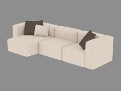 Canapé triple modulaire