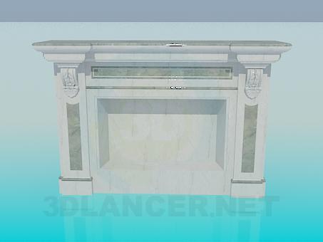 3d модель Фальш камин – превью
