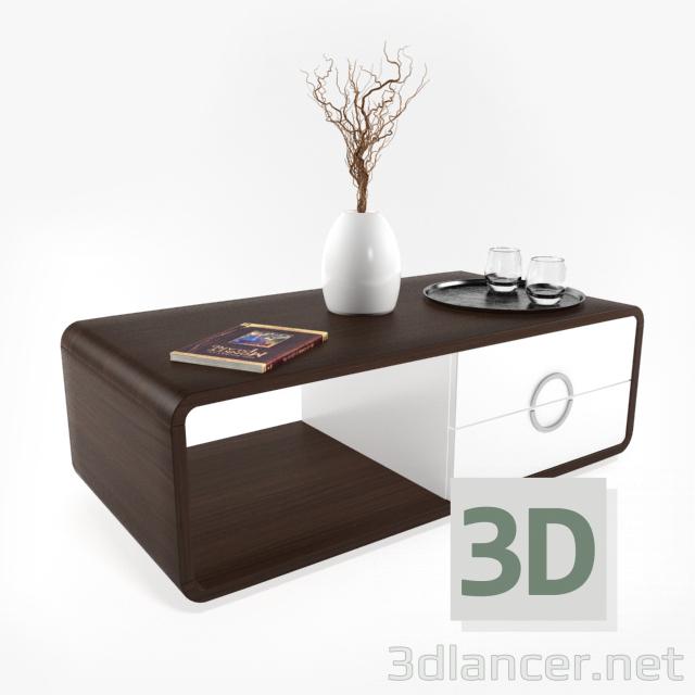 3 डी मॉडल कॉफी टेबल - पूर्वावलोकन