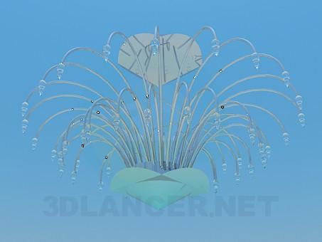 3d модель Люстра кольору металік в мінімалістичному стилі – превью