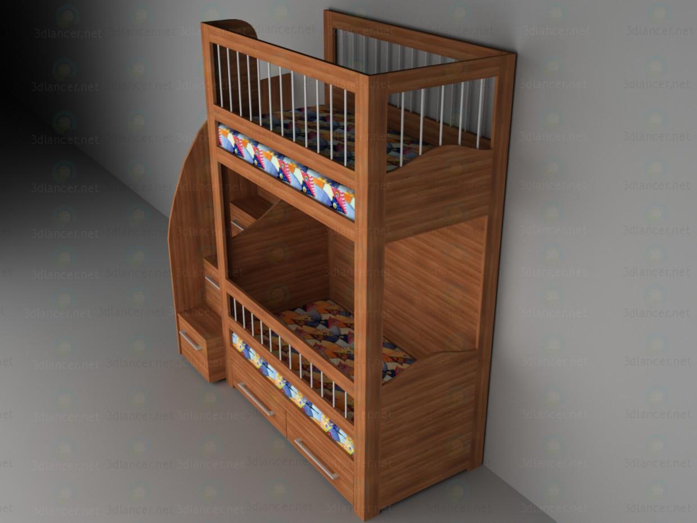 cama de cucheta de los niños 3D modelo Compro - render