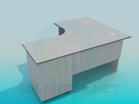 3d model Corner office desk - preview