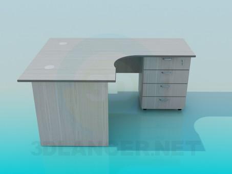 3d model Corner office desk - preview