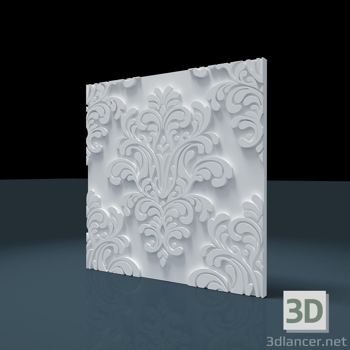 "3d model 3D panel ""Baroque"" - preview"