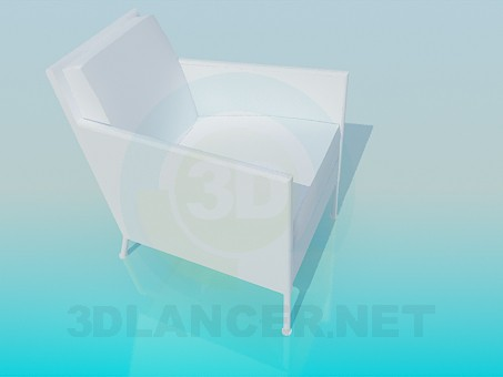 3d model Armchair on thin legs - preview