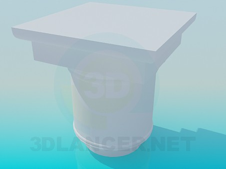 3d modeling Column cap model free download