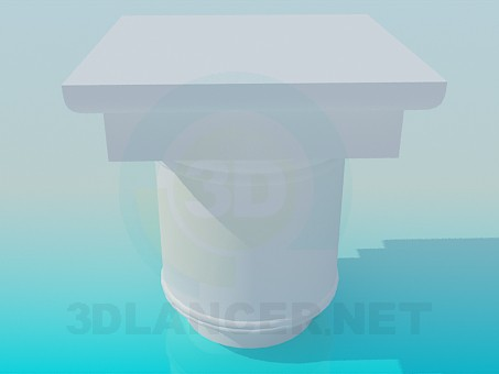 modelo 3D Tapa de columna - escuchar
