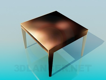 3d model Square table - preview