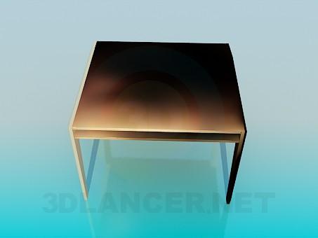 3d модель Стол квадратный – превью