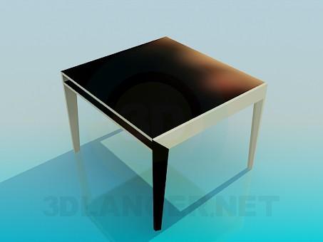 modelo 3D Mesa cuadrada - escuchar