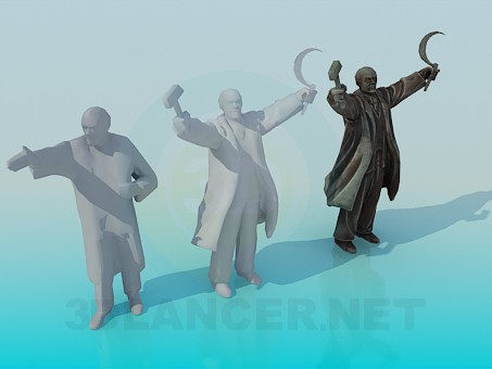 3d модель Памятники Ленину – превью