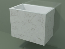 Lavabo suspendu (02R133101, Carrara M01, L 60, P 36, H 48 cm)