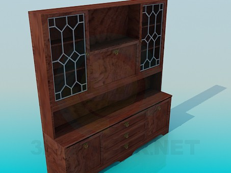3d model Bookcase-sideboard - preview