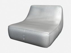 Leather daybed Art Deco Olivieri
